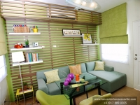 Catherine House Model Dressed Up Living Area at Lancaster Houses Cavite