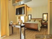 Chessa House Model Dressed Up Master's Bedroom at Lancaster Houses Cavite