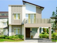 Chessa House Model Dressed Up Exterior at Lancaster Houses Cavite