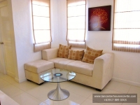 Diana House Model Dressed Up Living Area at Lancaster Houses Cavite