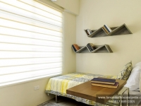 Mabelle House Model Dressed Up Bedroom 2 at Lancaster Houses Cavite
