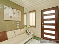 Sophie House Model Dressed Up Living Area at Lancaster Houses Cavite