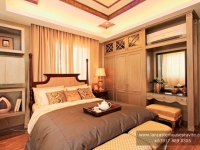 Alexandra House Model Dressed Up Master's Bedroom at Lancaster Houses Cavite