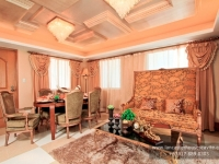 Alexandra House Model Dressed Up Living Area at Lancaster Houses Cavite
