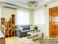 Chessa House Model Dressed Up Living Area at Lancaster Houses Cavite