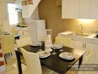 Diana House Model Dressed Up Dining and Kitchen Area at Lancaster Houses Cavite