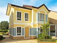Gabrielle House Model Dressed Up Exterior at Lancaster Houses Cavite