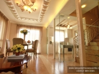 Gabrielle House Model Dressed Up Living Area at Lancaster Houses Cavite