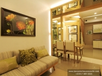 Thea House Model Dressed Up Living Area at Lancaster Houses Cavite