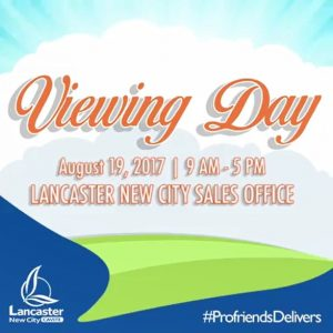 Lancaster New City Cavite Viewing Day August 19 Banner House and Lot For Sale In Cavite Philippines, For Rent, For Leased, Buy And Sell