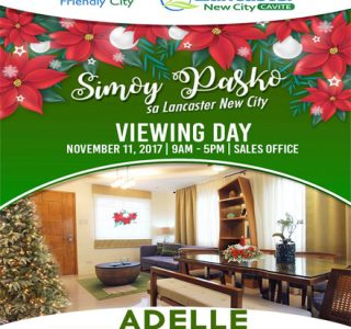 Lancaster New City Cavite Viewing Day November 11 House and Lot For Sale in Cavite