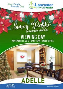 Lancaster New City Cavite Viewing Day November 11 Saturday